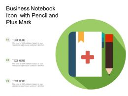 Business Notebook Icon With Pencil And Plus Mark