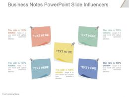 Business Notes Powerpoint Slide Influencers