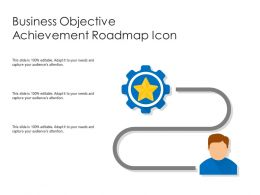 Business Objective Achievement Roadmap Icon