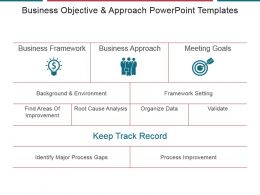 Business Objective And Approach Powerpoint Templates