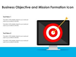 Business Objective And Mission Formation Icon