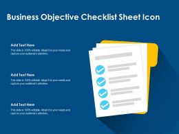Business Objective Checklist Sheet Icon