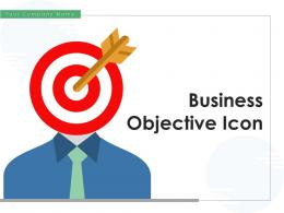 Business Objective Icon Financial Management Arrow Achievement Roadmap