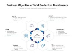 Business Objective Of Total Productive Maintenance