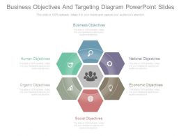 Business Objectives And Targeting Diagram Powerpoint Slides