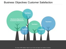 Business Objectives Customer Satisfaction Ppt Powerpoint Presentation Pictures Aids Cpb