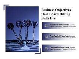Business Objectives Dart Board Hitting Bulls Eye