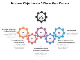 Business Objectives In 5 Pieces Gear Process