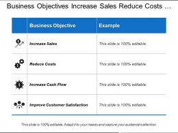 Business Objectives Increase Sales Reduce Costs Improve Customer Satisfaction
