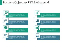 Business Objectives Ppt Background