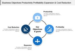 Business Objectives Productivity Profitability Expansion And Cost Reduction