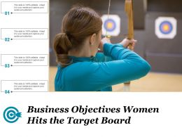 Business Objectives Women Hits The Target Board