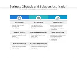 Business Obstacle And Solution Justification