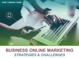 Business Online Marketing Strategies And Challenges Powerpoint Presentation Slides