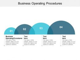 Business Operating Procedures Ppt Powerpoint Presentation File Guidelines Cpb