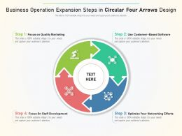 Business Operation Expansion Steps In Circular Four Arrows Design