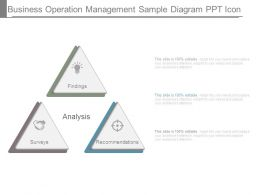 Business Operation Management Sample Diagram Ppt Icon