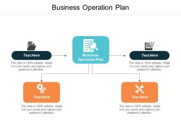 Business Operation Plan Ppt Powerpoint Presentation Ideas Mockup Cpb