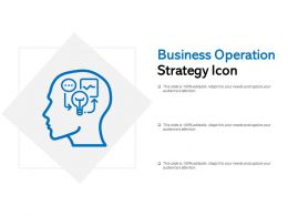 Business Operation Strategy Icon