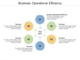 Business Operational Efficiency Ppt Powerpoint Presentation Icon Format Cpb