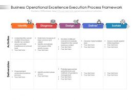 Business Operational Excellence Execution Process Framework