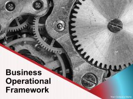 Business Operational Framework Powerpoint Presentation Slides
