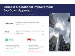 Business Operational Improvement Top Down Approach