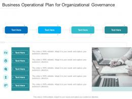 Business Operational Plan For Organizational Governance Infographic Template