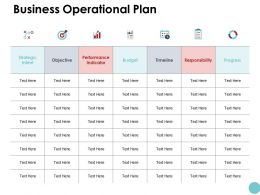 Business Operational Plan Ppt Powerpoint Presentation Gallery Portrait