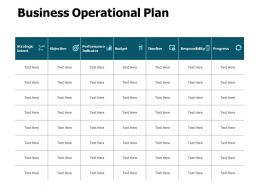 Business Operational Plan Ppt Powerpoint Presentation Infographics Infographics