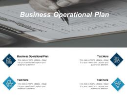 Business Operational Plan Ppt Powerpoint Presentation Slides Visuals Cpb