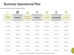 Business Operational Plan Ppt Powerpoint Presentation Styles Backgrounds