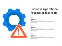 Business Operational Process At Risk Icon