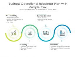 Business Operational Readiness Plan With Multiple Tasks