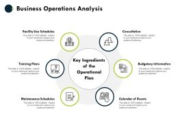 Business Operations Analysis Budgetary Information Consultation Ppt Powerpoint Presentation