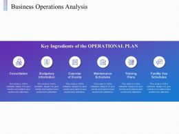 Business Operations Analysis Budgetary Information Ppt Powerpoint Presentation Pictures Tips