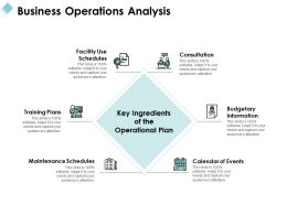 Business Operations Analysis Consultation Ppt Powerpoint Presentation File Professional
