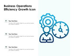 Business Operations Efficiency Growth Icon