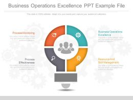 Business Operations Excellence Ppt Example File