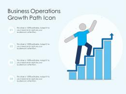 Business Operations Growth Path Icon
