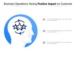Business Operations Having Positive Impact On Customer