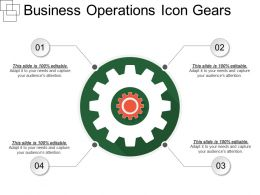 Business Operations Icon Gears