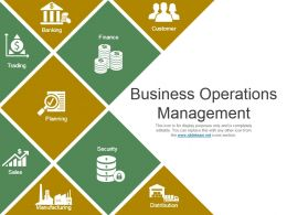 Business Operations Management Powerpoint Layout