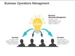 Business Operations Management Ppt Powerpoint Presentation Ideas Graphics Example Cpb