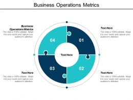 Business Operations Metrics Ppt Powerpoint Presentation Pictures Microsoft Cpb