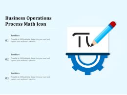 Business Operations Process Math Icon