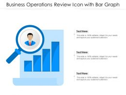 Business Operations Review Icon With Bar Graph