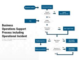 Business Operations Support Process Including Operational Incident