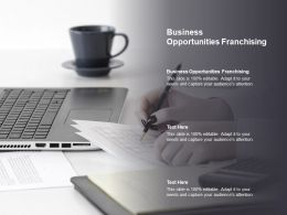 Business Opportunities Franchising Ppt Powerpoint Presentation Slides Good Cpb
