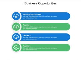 Business Opportunities Ppt Powerpoint Presentation Styles Cpb